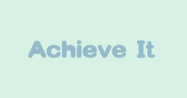 Achieve It font thumb